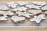 Gingerbread cookies - selective focus