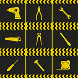 Repairing service tool sign icons