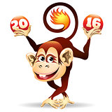 Cheerful Fire monkey