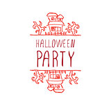 Halloween party - typographic element