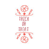 Trick or treat - typographic element