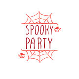 Spooky party - typographic element