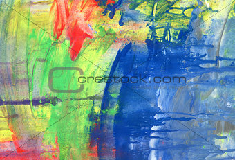 Abstract  acrilic textured painted background