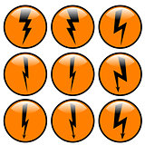 Lightning icon set.