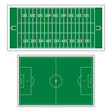 Field to play football, vector illustration.