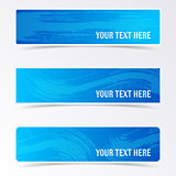 Blue vector banners with brush strokes