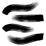 Vector black brush strokes
