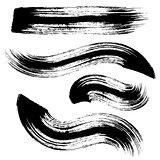 Vector black brush strokes