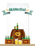 Oktoberfest celebration vector background poster