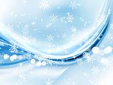 Abstract Christmas snowflakes