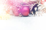 Christmas background with vintage effect