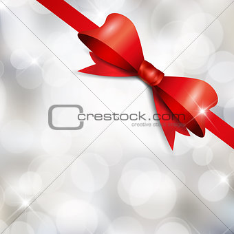 Christmas ribbon background