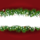 Christmas snowflakes background