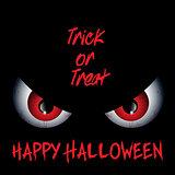 Evil eyes Halloween background