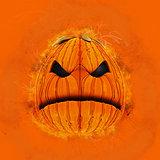 Grunge Halloween pumpkin