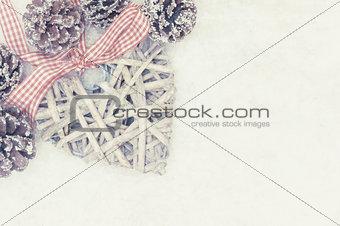 Grunge Christmas decoration background