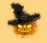 Grunge Halloween pumpkin background