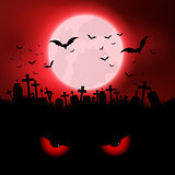 Halloween evil eyes background