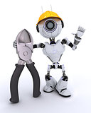 Robot builder with wire cutters