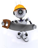 Robot builder with a saw
