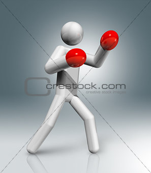 Boxing 3D symbol, Olympic sports