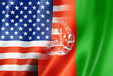 USA and Afghanistan flag