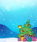 Christmas tree and gifts theme image 5