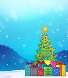 Christmas tree and gifts theme image 6