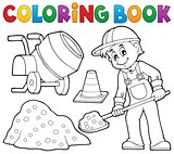 Coloring book construction worker 2