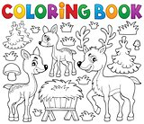 Coloring book deer theme 1