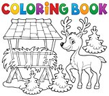 Coloring book deer theme 2