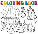 Coloring book deer theme 2
