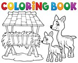 Coloring book deer theme 3