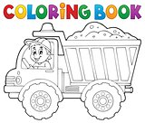 Coloring book sand truck theme 1
