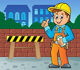 Construction worker theme image 4
