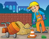 Construction worker theme image 6
