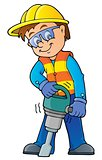Construction worker theme image 7