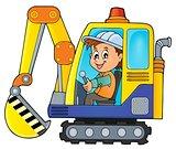 Excavator operator theme image 1