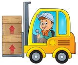 Fork lift truck theme image 1