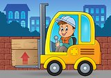 Fork lift truck theme image 3