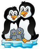 Penguin family theme image 1