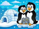 Penguin family theme image 2