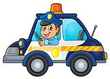 Police car theme image 1