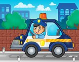 Police car theme image 2
