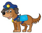 Police dog theme image 1