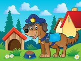 Police dog theme image 2