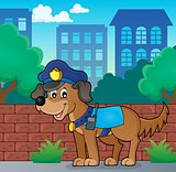 Police dog theme image 3