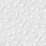Seamless pattern with musical notes. Vector illustration.