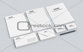 business paper set