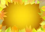 Autumn greeting card.